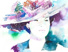Lady Mary Crawley. Original Watercolor Costume Fashion by silverridgestudio on Etsy, $400.00