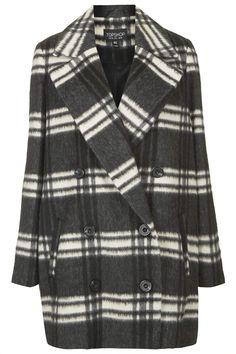 Double Breasted Pea Coat - Jackets & Coats - Clothing - Topshop USA
