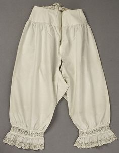 Drawers    Date: 1840s  Culture: American or European  Medium: cotton  Accession Number: C.I.37.64.10 | The Met