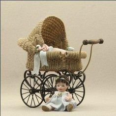 One twelve scale miniature babies by Pat Melvin Miniatures