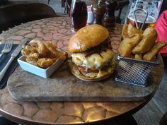 A real burger at my local pub.