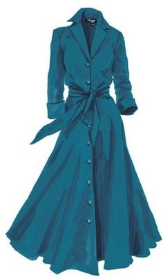 Vintage Shirtwaist Dress History : 1947 dress Discover why the shirtwaist dress or shirt dress was the most popular style of day dresses. Easy to put on, casual, and with many charming details. Modest Fashion, Hijab Fashion, Fashion Dresses, Vintage Dresses, Vintage Outfits, Vintage Fashion, 70s Fashion, Dress Skirt, Dress Up