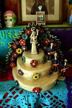 Mexican style dia de Los muertos wedding cake   cake inspiration ...