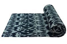 Black Ikat Queen New Kantha Quilt Bedspread Bedding Throw Decorative Art Indian