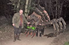 Giant epic creatures for LARP! COOOL! the spider's legs are made the same way as larp weaponry, so they're legal weapons.: