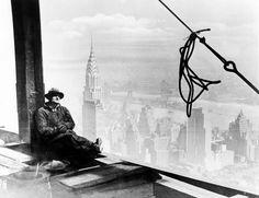 Arbeiter auf dem Empire State Building