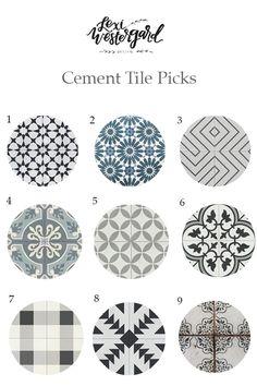 Top Cement Tile Picks | Lexi Westergard Design                                                                                                                                                                                 More