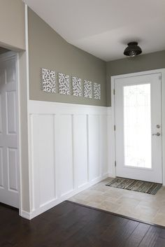 Board and batten wainscoting tutorial.