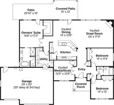ranch house plans with open floor plan | ... Craftsman House Plan - #ALP-097H - Chatham Design Group House Plans