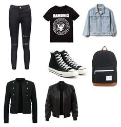 """Untitled #22"" by rinushok on Polyvore featuring Gap, Converse, Herschel Supply Co. and LE3NO"