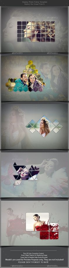 Display Photo Frame Template by FractalNoise Display Photo Frame Template 5 Unique PSD Files pixel Resolution Layered Photography Business, Creative Photography, Frame Template, Templates, Wedding Album Design, Photocollage, Layout, Graphic Design Typography, Photo Displays