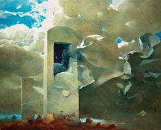Zdzisław Beksiński, Nawie z Rajca ku Otchłani okolica bramy #Paintings #Polish #Art