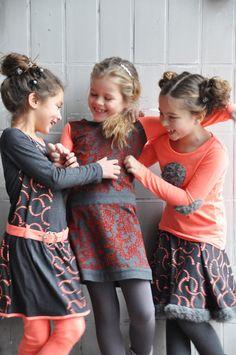 LoFff Winter 2014 | PR4Kids Grey And Coral, Tween Girls, Girl Power, Dark Grey, Leather Skirt, Kids Fashion, Infant, Flower Girl Dresses, Dope Clothes