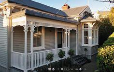 Exterior colors schemes australia Ideas for 2019 House Exterior Color Schemes, Exterior Paint Colors For House, Exterior Colors, Exterior Design, Cottage Design, House Design, Weatherboard House, Queenslander, Cottage Exterior