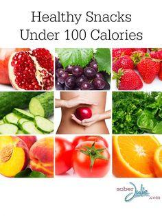 Healthy, Low Calorie Snack Ideas - 100 Calorie Snack Ideas - Sober Julie