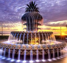 Charleston - Pineapple Fountain