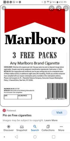 Free Coupons Online, Free Coupons By Mail, Free Stuff By Mail, Cigarette Coupons Free Printable, Print Coupons, Marlboro Coupons, American Bulldog Mix, Pall Mall, Money Spells