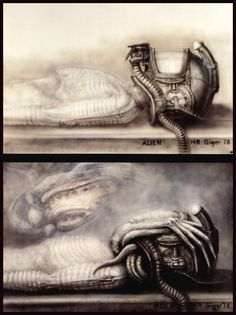 I love this artist. Hr Giger Alien, Hr Giger Art, Xenomorph, Chur, Zurich, Arte Cyberpunk, Aliens Movie, Alien Vs Predator, Alien Art