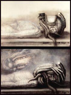 H. R. Giger alien face hugger