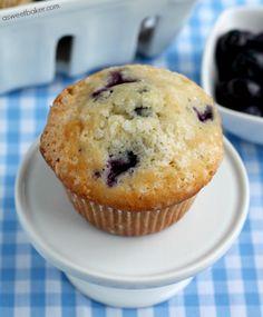 Blueberry Muffins | A Sweet Baker