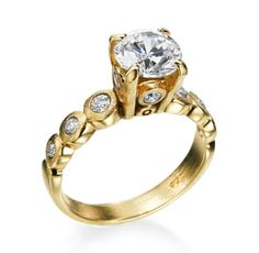 Alex Sepkus - Candy Collection 18K Yellow Gold 0.33ctw Diamond Setting (Available at Michael C. Fina)
