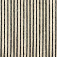 Tab Top Curtain Panels Black Ticking Stripe by ClosetoCustomLinens