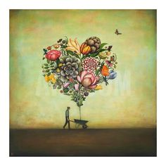 Big Heart Botany Art Print by Duy Huynh at Art.co.uk