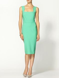 Piperlime | Wool Seaglass Cutout Dress