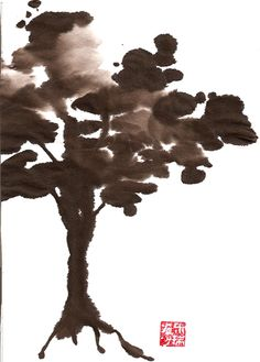 Chinese ink painting of tree