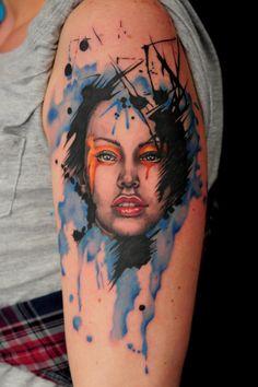 watercolour woman by Robert-Franke.deviantart.com on @deviantART