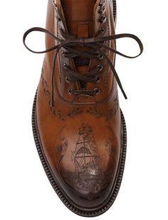McQueen men's tattoo boots