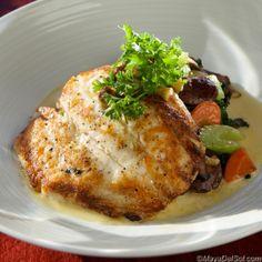 pescado del dia | fluke · kale · christmas lima beans · shiitake mushrooms · lemon butter