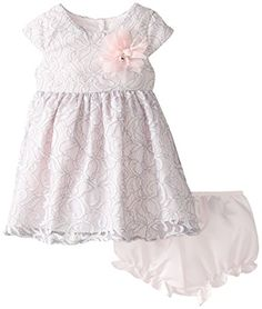 Pippa  Julie Baby Girls Lace Overlay Dress Grey 12 Months *** You can find out more details at the link of the image.