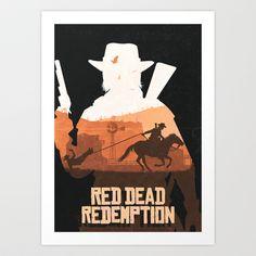 Red Dead Art Print by Lee Shackleton - $12.48