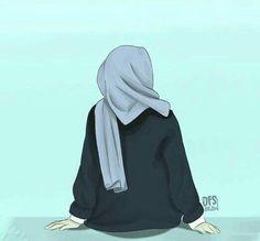 Be positive thinking Hijabi Girl, Girl Hijab, Muslim Girls, Muslim Women, Muslim Couples, Cover Wattpad, Tmblr Girl, Sarra Art, Hijab Drawing