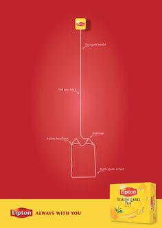 Lipton, Always With You. by Jess Neo, via Behance