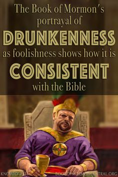 Just like the Bible, the Book of Mormon contains many passages that both condemn drunkenness and portrays it as foolishness. This shows how the Book of Mormon is consistent with the biblical record. Learn how the Book of Mormon helps answer questions just as the Word of Wisdom did. https://knowhy.bookofmormoncentral.org/content/how-does-the-book-of-mormon-help-explain-the-origins-of-the-word-of-wisdom #BookofMormon #LDS #Mormon #Faith #ShareGoodness #Alcohol #Drunk #WordofWisdom