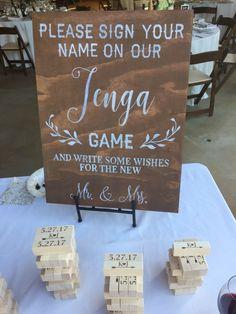 letgo - Wedding Jenga Guest Book Sign in Santa Monica, CA
