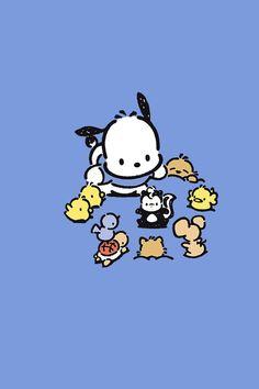 Pochacco Cute Laptop Wallpaper, Hello Kitty Iphone Wallpaper, Sanrio Wallpaper, Kawaii Wallpaper, Disney Wallpaper, Hello Kitty Characters, Sanrio Characters, Hello Kitty Art, Sanrio Hello Kitty
