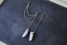 Wire Wrapped Crystal Pendulum Double Chain by oflovelythings, $11.00