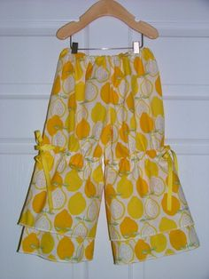 CHILDREN Vintage Style Pants  Alexander Henry  by BoutiqueMia, $44.00 I can make em for less and love to collect vintage pieces for my girl! Our last piece was a simple white full slip, the kind you probably had as a little girl with the small rose bud/rosette and slightly full with the adjustable dainty satin straps, so sweet. I just enjoy seeing her in all these adorable things and practical never was my thing anyway. ;)