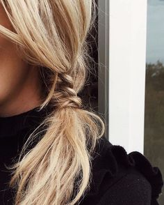 Textured braid hairstyle