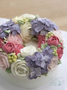 Buttercream Flower Cake by We Cake