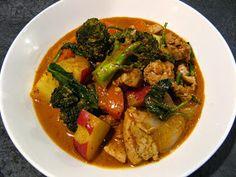 Masaman Curry Basil Chicken
