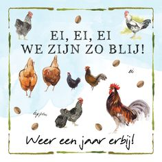 Birthday Wishes, Happy Birthday, Rooster, Lol, Creative, Cards, Animals, Products, Happy Brithday