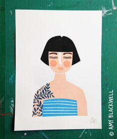 Image of The Illustrated Girl - am totally OBSESSED with this print!!