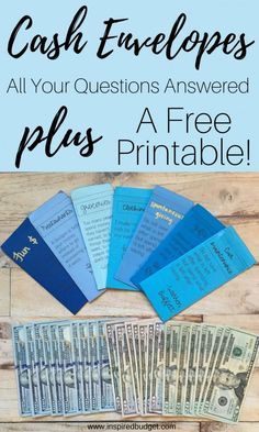 How to Use the Cash Envelope System – Budget Inspired Learn Need help getting started on the cash envelope system? This article will show you how to set up your cash envelopes, what to do when you have money leftover, and comes with free printable cash en Budget Envelopes, Money Envelopes, Budgeting Finances, Budgeting Tips, Ways To Save Money, Money Saving Tips, Money Tips, Saving Ideas, Money Envelope System