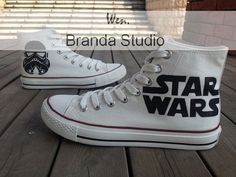 etsy.com star wars cons! lv - Star Wars Shoes - Ideas of Star Wars Shoes #starwars #shoes #starwarsshoes - etsy.com star wars cons! lv Cool Converse, Painted Converse, Painted Canvas Shoes, Custom Painted Shoes, Custom Shoes, Converse High, Dr Shoes, Me Too Shoes, Sneakers Fashion