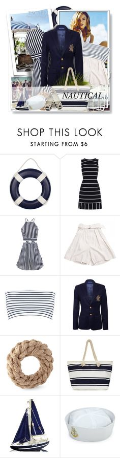 """Nautical Stripes..."" by desert-belle ❤ liked on Polyvore featuring Karen Millen, Isabel Marant, Miss Selfridge, Ralph Lauren, BC Footwear and Nautical"