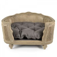 Lord Lou Arthur Charcoal Brown - Arthur Charcoal Brown luxury pet sofa Louis XV style with striking curved solid oak frame. - Fletcher Of London - Luxury Pet Products Antique Interior, French Interior, Pet Furniture, French Furniture, Fancy Bed, French Dogs, Chesterfield Chair, Interior Accessories, Dog Accessories